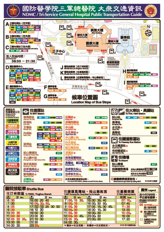 國防醫學院交通圖