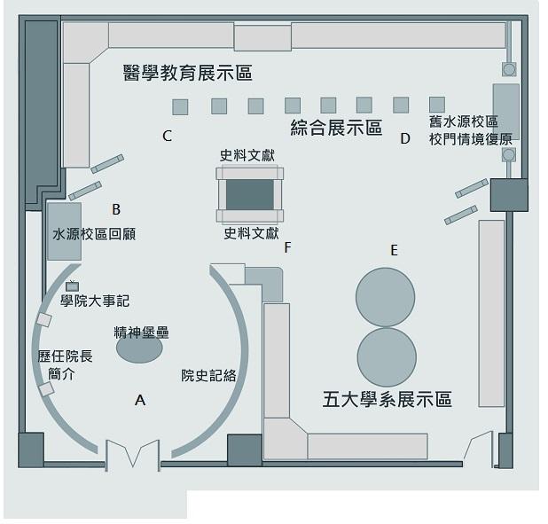 院史一館平面圖
